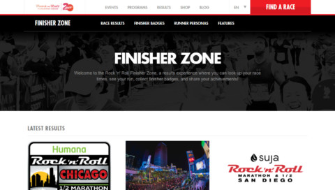 Finisher Zone Home Page
