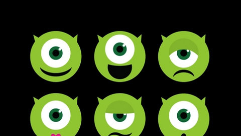 Mike Wazowski Faces In CSS