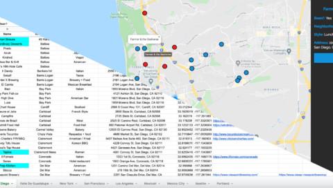 Google Sheets Map
